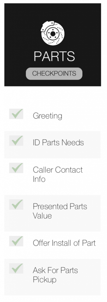 Measure Up Group Automotive Phone Training for Fixed Ops and Parts Call Checkpoint