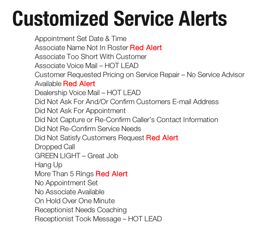 Measure Up Group Service Heads Up Alerts - Web Speak Automotive Content Digital Marketing