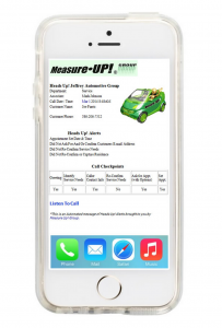 Measure Up Group Service Heads Up Mobile Alerts - Web Speak Automotive Content Digital Marketing